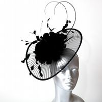 15618 Black Fascinator/Hatinator SD770